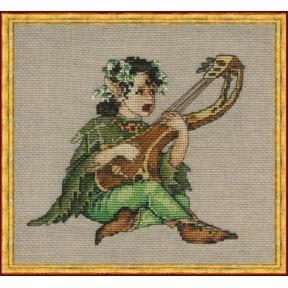 Набор для вышивания крестом NIMUЁ 12-Z003 К (Aida) Luthiel/Мастер, изготавливающий струнные инструменты