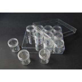 Органайзер для бисера и бусин OR-16-12-6 баночек (16х12х5,5 см) (Китай)