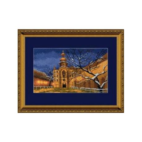 Набор для вышивки крестом Чарівна Мить 360ч Зимний храм фото