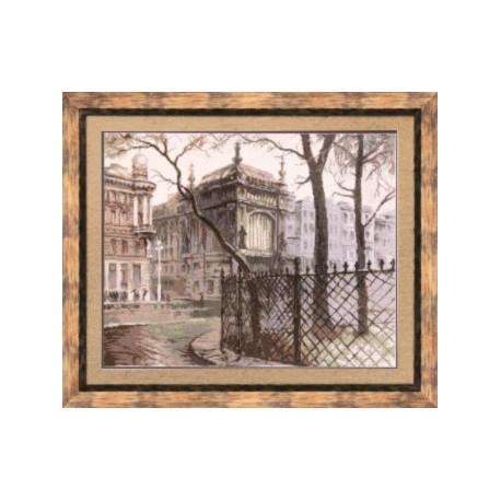 Набор для вышивки крестом Чарівна Мить М-67 Питерский дворик