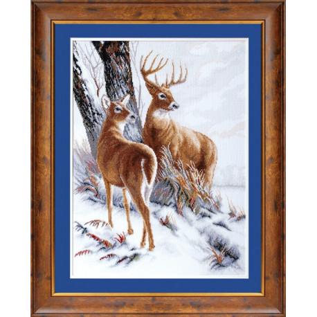 Набор для вышивки крестом Чарівна Мить М-30 Пара оленей фото