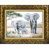 Набор для вышивки крестом Чарівна Мить М-24 Слоны у воды фото
