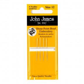 Набор коротких бисерных игл Short Beading №10 (6шт) John James JJ10710