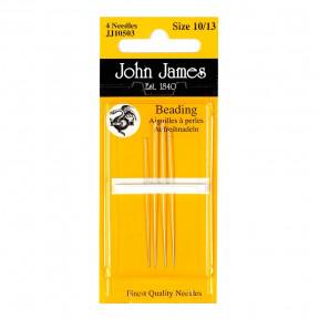 Набор бисерных игл Beading №10 (4шт) John James JJ10510