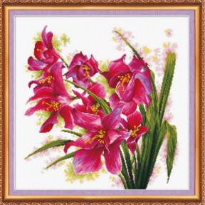"""Набор для вышивания крестом Абрис Арт АН-003 """"Лиловые орхидеи"""""""