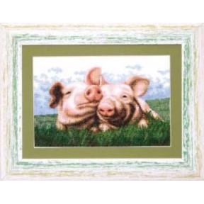 Набор для вышивки крестом Чарівна Мить А-060 «Свинки