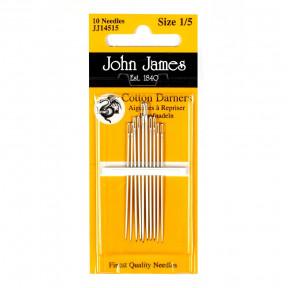 Набор коротких штопальных игл Short Cotton Darners №9 John James JJ14509