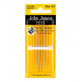 Набор длинных штопальных игл Long Darners №1/5 (6шт)  John James JJ16515