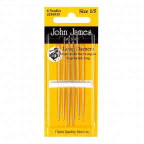 Набор длинных штопальных игл Long Darners №7 (6шт)  John James JJ16507