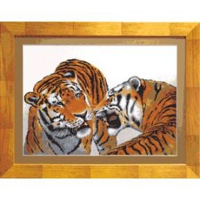 Набор для вышивки крестом Чарівна Мить 550ч Тигры