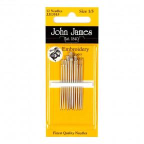 Набор игл для вышивки гладью №5(16шт) John James JJ13505