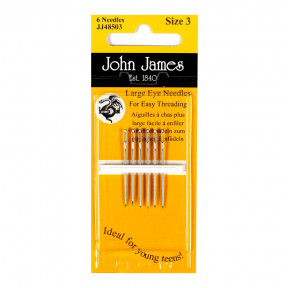 Набор игл для шитья c большим ушком №3 (6шт) John James JJ48503