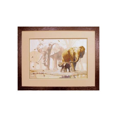 Набор для вышивки крестом Чарівна Мить 475ч Слоны фото