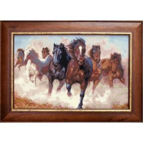 Набор для вышивки крестом Чарівна Мить 470ч Лошади