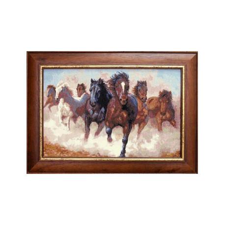 Набор для вышивки крестом Чарівна Мить 470ч Лошади фото
