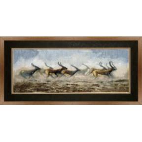 Набор для вышивки крестом Чарівна Мить 440ч Бегущие антилопы