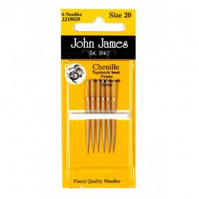 Набор игл для вышивки лентами №20 (6 шт) John James JJ18820 фото
