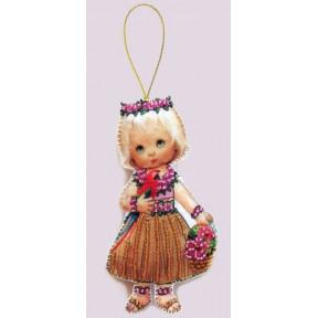 Набор для вышивания бисером Butterfly F 057 Кукла. Гавайи