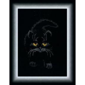 Набор для вышивки крестом Чарівна Мить М-142 Черный кот