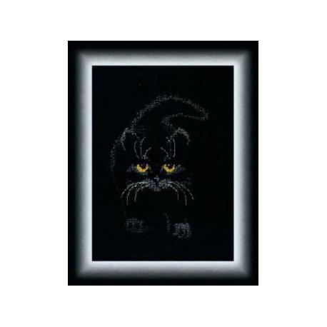 Набор для вышивки крестом Чарівна Мить М-142 Черный кот фото