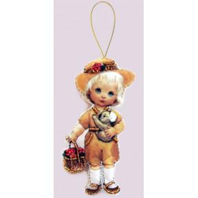 Набор для вышивания бисером Butterfly F 058 Кукла. Австралия