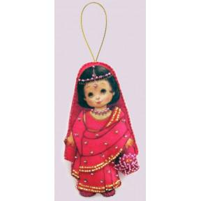 Набор для вышивания бисером Butterfly F 061 Кукла. Индия