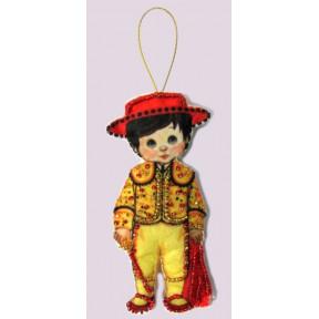 Набор для вышивания бисером Butterfly F 080 Кукла. Испания-М