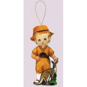 Набор для вышивания бисером Butterfly F 081 Кукла. Австралия-М