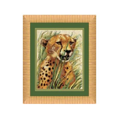 Набор для вышивки крестом Чарівна Мить 267ч Леопард фото