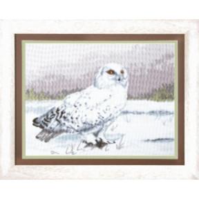 Набор для вышивки крестом Чарівна Мить М-80 Мудрая сова Букля