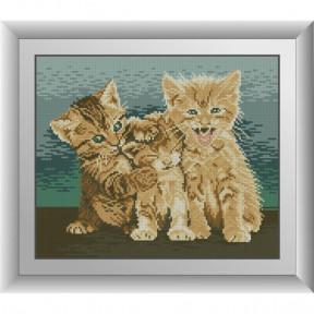 Набор для рисования камнями Dream Art. 30684 Три котенка фото
