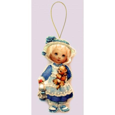 Набор для вышивания бисером Butterfly F042 Кукла. Англия фото