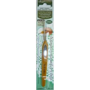 Крючок для вязания №12 0,60мм  1026 Clover (Япония)