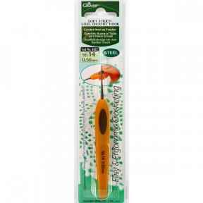 Крючок для вязания №14 0,50мм  1027 Clover (Япония)