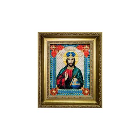 Набор для вышивки 467ч Икона Господа Иисуса Христа фото
