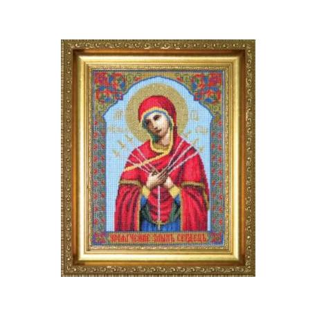 Набор для вышивки Чарівна Мить 403ч Богородица Семистрельная