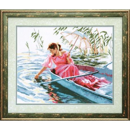 Набор для вышивки крестом Чарівна Мить А-153 В лодке фото
