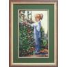 Набор для вышивки крестом Чарівна Мить 494ч Девочка в саду фото