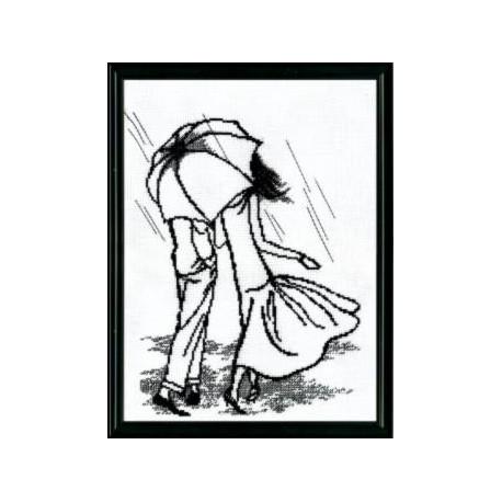 Набор для вышивки крестом Чарівна Мить 363ч Под дождем фото