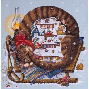 Набор для вышивания крестом Мережка Уютная зима К-107