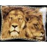 Набор для вышивки подушки Чарівна Мить 410ч Львы фото