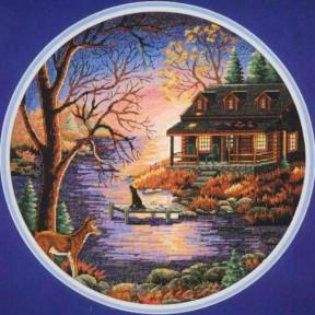 Набор для вышивания крестом Classic Design Осенний вечер 4450