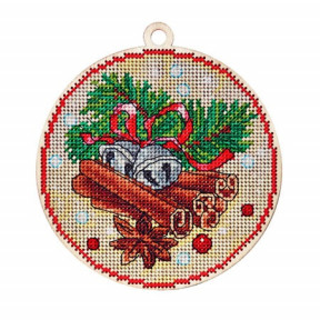 Набор для вышивки крестом Alisena 5514а Новогодняя – корица фото