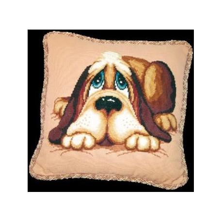 Набор для вышивки Чарівна Мить 277ч Подушка с собакой фото