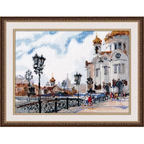 Набор для вышивки крестом Овен 1051 На Патриаршем мосту