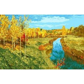 Набор для вышивания гобелен  Goblenset  G531  Золотая осень (Левитан)