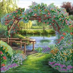 Схема для вышивания бисером Абрис Арт АС-476 Цветочная арка