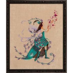 """Схема для вышивания """"The Leaf Collector//Коллекционер листвы"""" Nora Corbett NC215"""