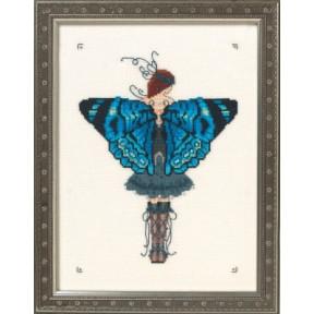 "Схема для вышивания ""Miss Columbian Nymphalid//Колумбийский Нимфалид"" Nora Corbett NC242"