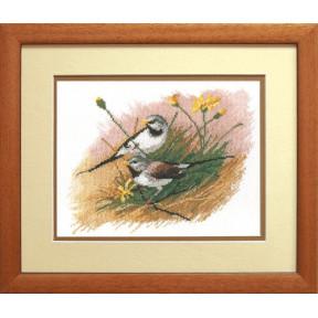 Набор для вышивки крестом Чарівна Мить А-140 Осторожные птички